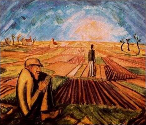 """Qui est le peintre de ce """"Soleil couchant"""" ?"""