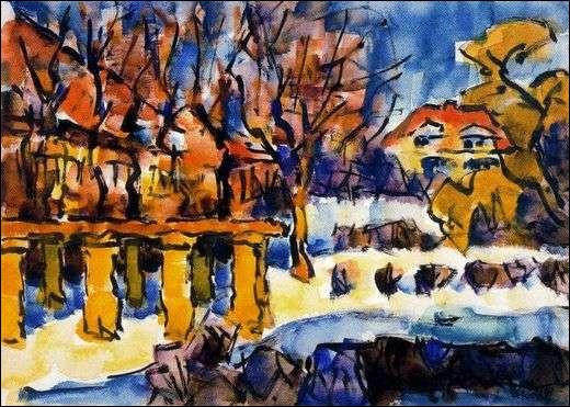 """Qui a peint """"Jardin en hiver"""" ?"""