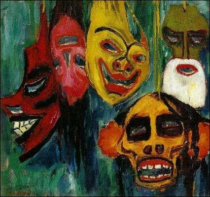 """Qui a peint """"Les Masques"""" ?"""