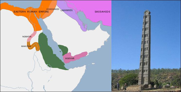Éthiopie, du - VIIe s. au IXe ou Xe siècle > Ce 1er royaume chrétien (323) contrôla longtemps tout le commerce sur la Mer Rouge et avait aussi le Nil qui coule. Quelle était leur capitale ?