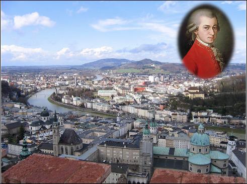 Quelle est cette ville d'Autriche située à la frontière allemande, célèbre pour avoir vu naître Mozart ?