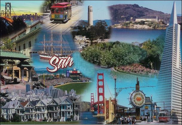 """Quelle est cette ville de Californie, célèbre pour le Golden Gate, Alcatraz, ses maisons victoriennes, ses """"Cable Cars"""", important foyer culturel et économique des États-Unis ?"""