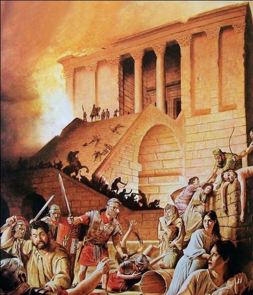 Quel empereur de Rome ordonna à son armée la destruction du temple de Jérusalem ?