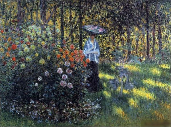 """Qui a peint """"Femme avec parasol dans le jardin"""" ?"""