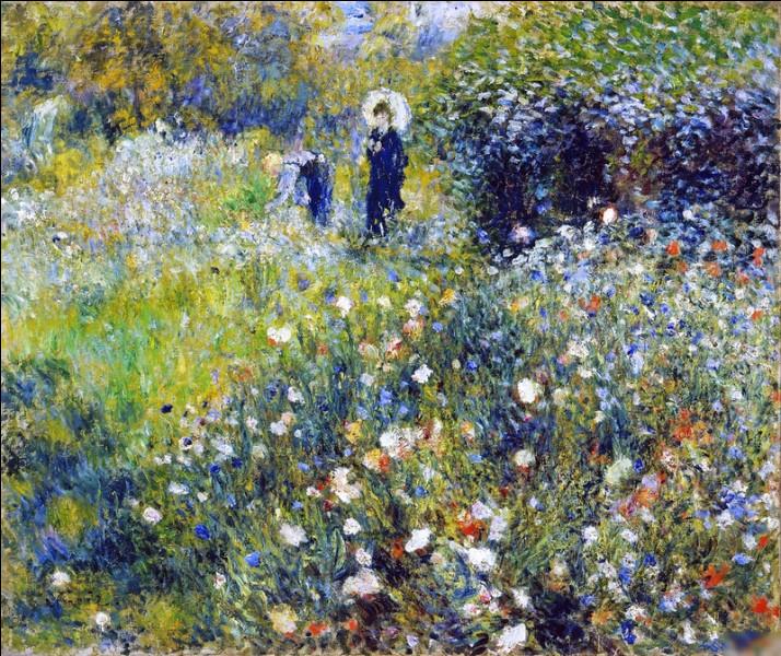 """Qui a peint """"Femme avec parasol dans un jardin"""" ?"""
