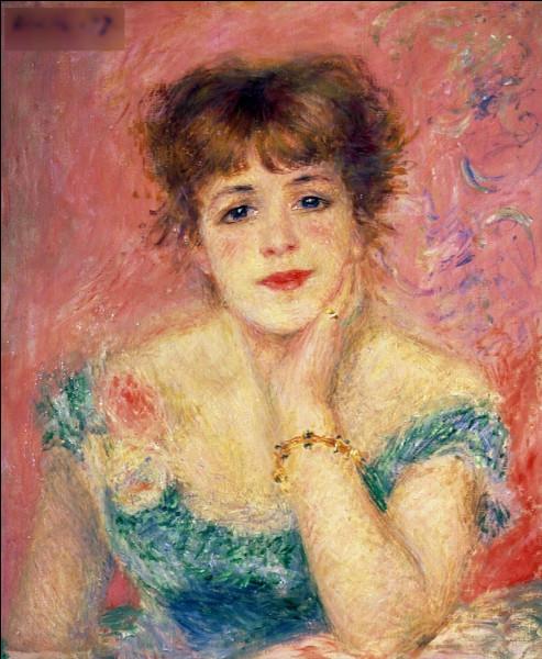 """Qui a peint """"La Rêverie (Portrait de l'actrice Jeanne Samary) ?"""