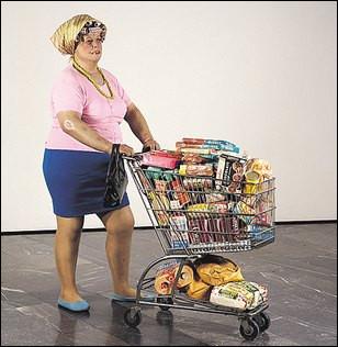 """Cette """"Supermarket Lady"""" créée en 1969 par Duane Hansonest est considérée comme emblématique du mouvement..."""