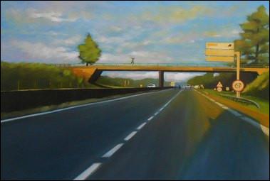 Franck Gervaise est un peintre avec la prédilection des paysages, les arbres, la forêt , les bords de mer sous la tempête. Il a réalisé une série de paysages urbains du dimanche soir. Dans quelle région est-il installé ?