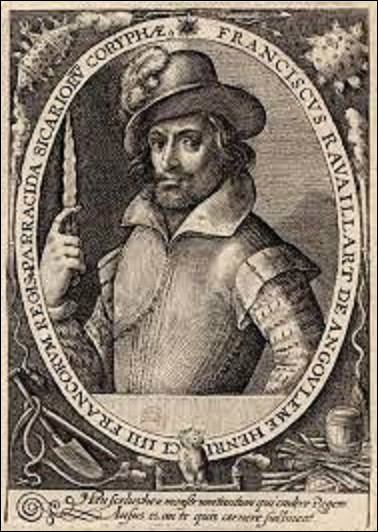14 mai 1610 : Rendant visite à son ami Sully, le surintendant des Finances, alité à cause d'une grippe, le carrosse d'Henri IV est ralenti par des encombrements rue de la Ferronnerie. C'est alors qu'un individu saute sur l'essieu et porte au roi des coups de couteau dont il décèdera un peu plus tard. Quel est le nom de son assassin ?