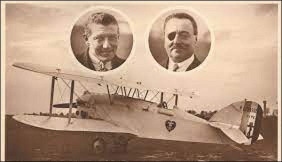9 mai 1927 : On est sans nouvelle de l'Oiseau blanc qui a décollé du Bourget le 8 mai. À son bord, deux pilotes chevronnés qui tentent la première traversée de l'océan Atlantique Nord. Le biplan se serait crashé près de Saint-Pierre-et-Miquelon. Quels aviateurs étaient à bord de cette avion ?
