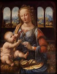 """Il est l'auteur de """"La Madone à l'oeillet"""" peinte vers 1473 :"""