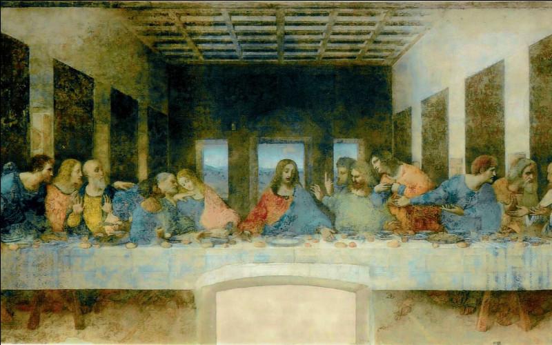 """Il est l'auteur de cette fresque """"La Cène"""", réalisée entre 1495 et 1498 sur un mur du couvent Santa Maria delle Grazie à Milan :"""