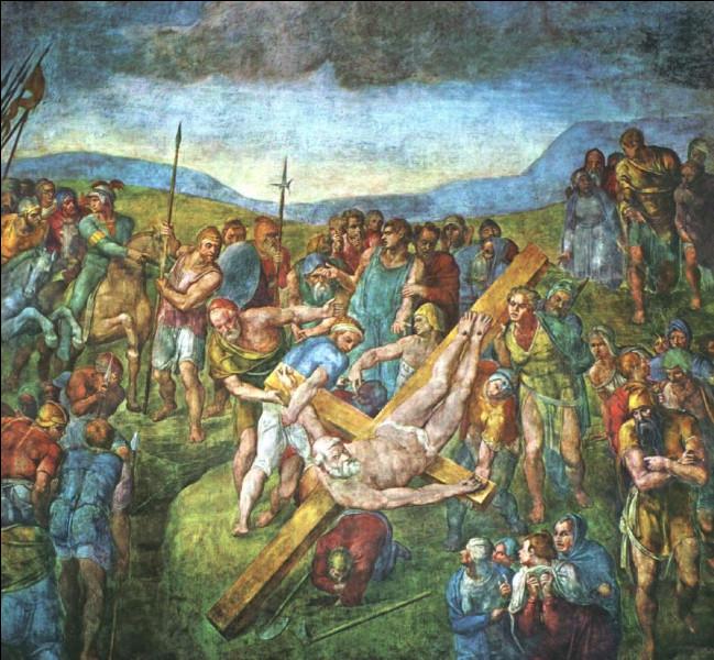 """Il est l'auteur de la fresque biblique """"Le Martyre de saint Pierre"""", réalisée vers 1546-1550 dans la chapelle Paolina du Vatican :"""