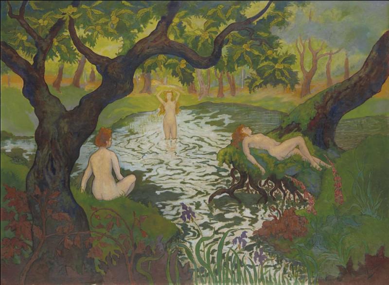"Qui a peint ""Trois baigneuses aux iris"" ?"