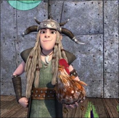 """Au début de la saison 1 de """"Dragons : Par-delà les rives"""", Kranedur adopte un poulet. Comment l'appelle-t-il ?"""