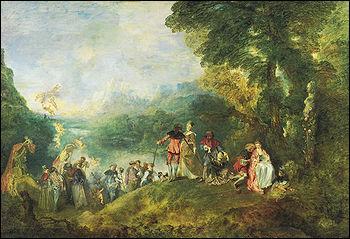 Quel peintre qui est décédé à l'âge de 37 ans a réalisé 'Le pèlerinage à l'île de Cythère' ?