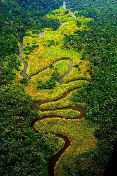Maintenant, quel est ce pays d'Afrique, qui a pour capitale Brazzaville connu pour ses rivières en zigzags ?