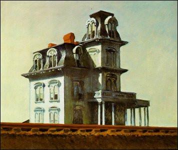 """L'huile sur toile """"Maison au bord de la voie ferrée"""" d'Edward Hopper a inspiré le metteur en scène d'un célèbre film ; qui est-il ?"""