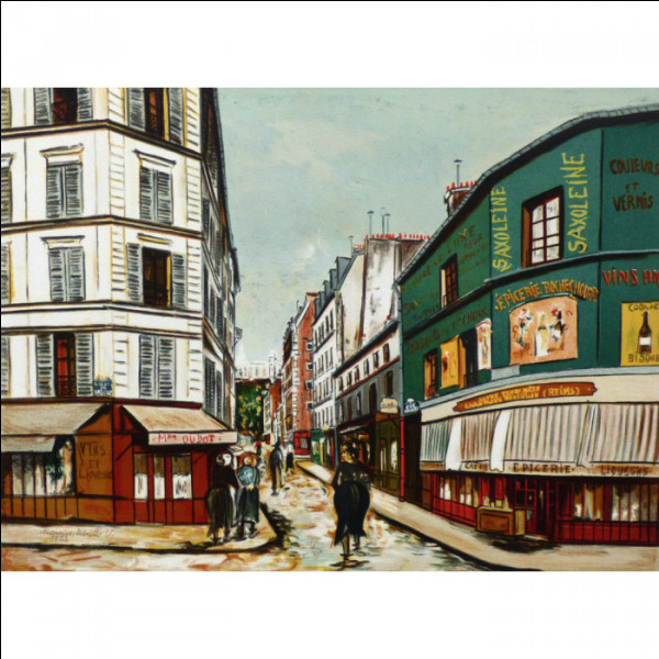 De quelle nationalité était le peintre Utrillo ?