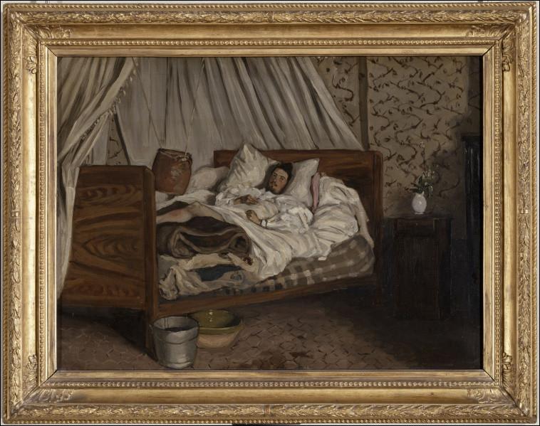 """Quel artiste Frédéric Bazille a-t-il représenté dans son tableau """"l'Ambulance improvisée"""" ?"""