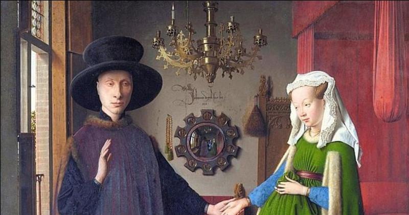 """Quel détail est célèbre dans le tableau de Jan Van Eyck """"Les Époux Arnolfini"""" ?"""