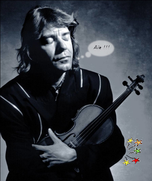 Eh oui, le violon est une véritable torture (pour le corps, avant même les oreilles !). Ici, on voit bien d'où il souffre : et vous ?