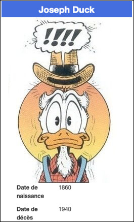 Est-ce le grand-père de Donald Duck ?