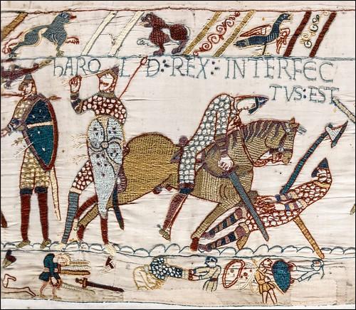 La guerre de succession d'Angleterre survint à la mort d'Édouard le Confesseur en 1066 : trois prétendants au trône s'affrontèrent. Qui l'emporta ?