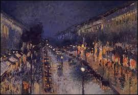"""À quel artiste doit-on ce tableau intitulé """"Boulevard Montmartre, Effet de nuit"""" en 1897 ?"""