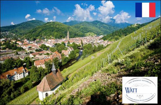 Quelle est cette petite ville française du Haut-Rhin, célèbre pour son eau minérale ?