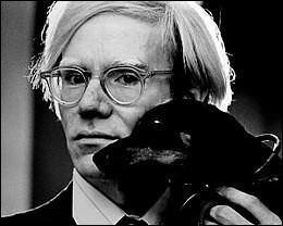 Avec quel artiste Andy Warhol a-t-il créé une série d'œuvres ?