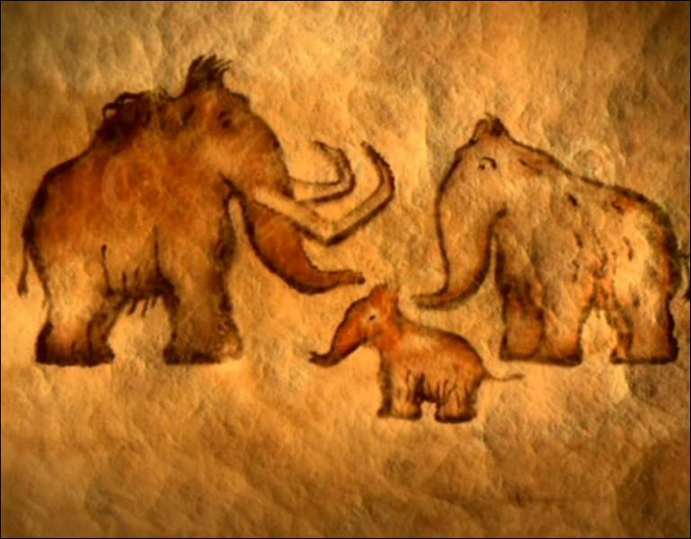 Que comprend-on lorsque le trio regarde les dessins sur le mur ?