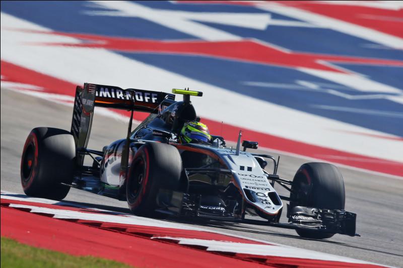 Passant par l'académie Ferrari pour arriver en Formule 1, ce pilote a tenté sa chance dans cette écurie de milieu de grille qu'est Force India. Quel pilote court sous le numéro 11 ?