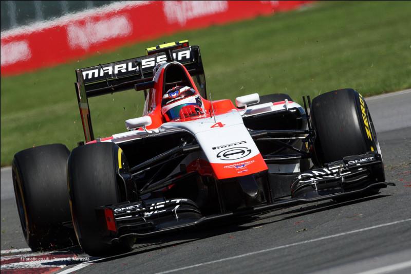 Finissons ce quizz avec l'une des pires écuries de la F1 moderne, Marussia. Les performances du pilote de la voiture numéro 4 sont éclipsées par celles de son coéquipier. Quel est son nom ?