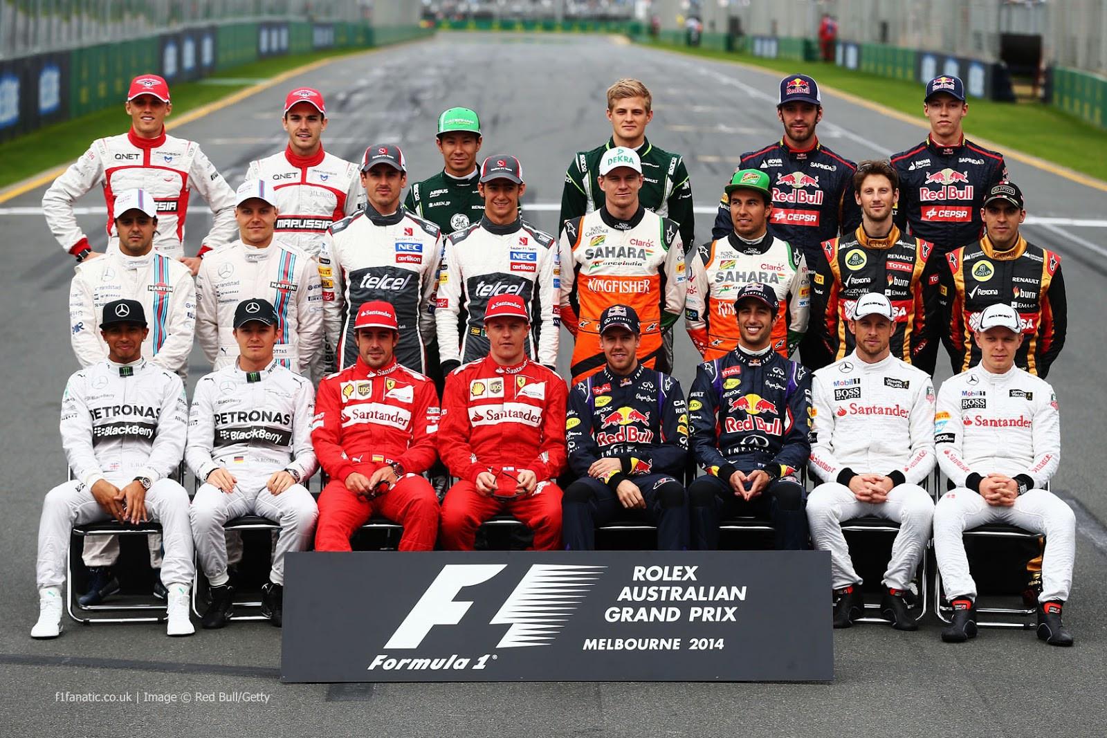 Numéro de course des pilotes de F1 : saison 2014