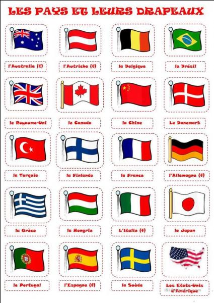 Associez chaque peine capitale et son drapeau