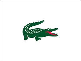 Quelle marque française de prêt-à-porter haut de gamme possède ce crocodile vert comme logo ?