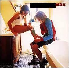"""Quel groupe a sorti l'album """"Wax"""" en 1996 dont l'image du cover représente deux adolescents dans une salle de bain ?"""