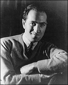 """Plus tard, en 1924, George Gerschwin écrira aussi une """"Rhapsodie..."""", mais il aura l'idée saugrenue mais originale de la peindre ..."""