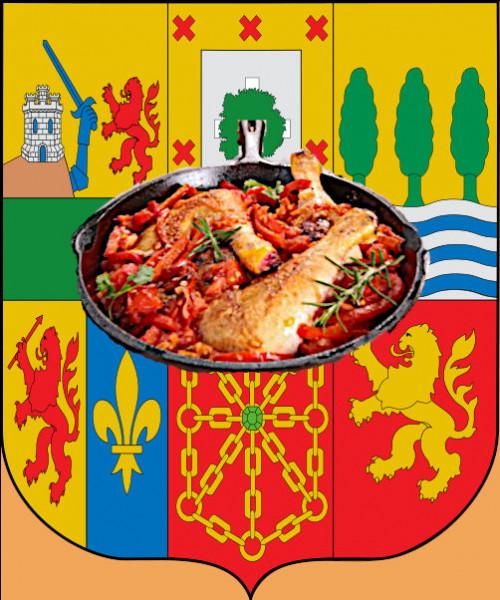 Devant des armoiries si complexes, un plat à l'aise dans ses baskets ! Surtout avec du piment, les belettes...