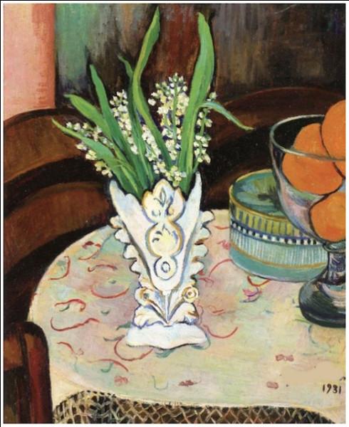 """Qui a peint ce """"Bouquet de muguet dans un vase"""" ?"""