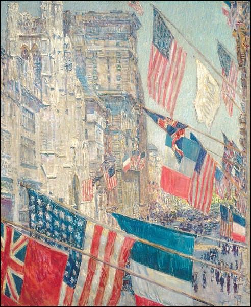 """Qui a immortalisé """"Le Jour des Alliés, mai 1917"""" ?"""