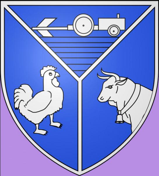 Rien qu'à voir le blason de ce village (489 hab.), on voit bien qu'entre le coq et le bœuf, on a deux poids ...