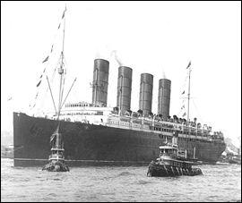 Paquebot coulé par une torpille allemande en 1915; la catastrophe fit 1 200 victimes ?