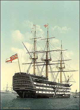 Vaisseau-amiral de Nelson à la bataille de Trafalgar ?