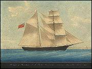 Découvert dérivant et désert dans l'océan Atlantique, entre le Portugal et les Açores en 1872 ?
