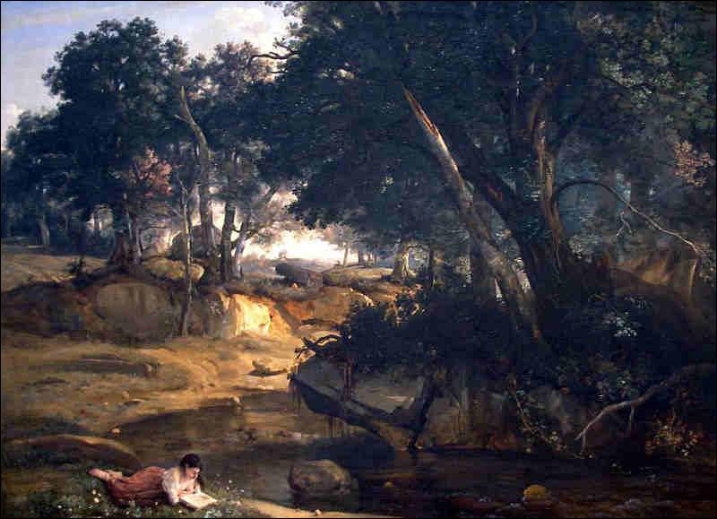 Qui a immortalisé cette fille lisant dans la forêt de Fontainebleau ?