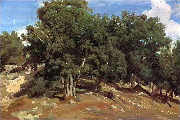 """Qui a peint """"Les Chênes noirs dans la forêt de Fontainebleau"""" ?"""