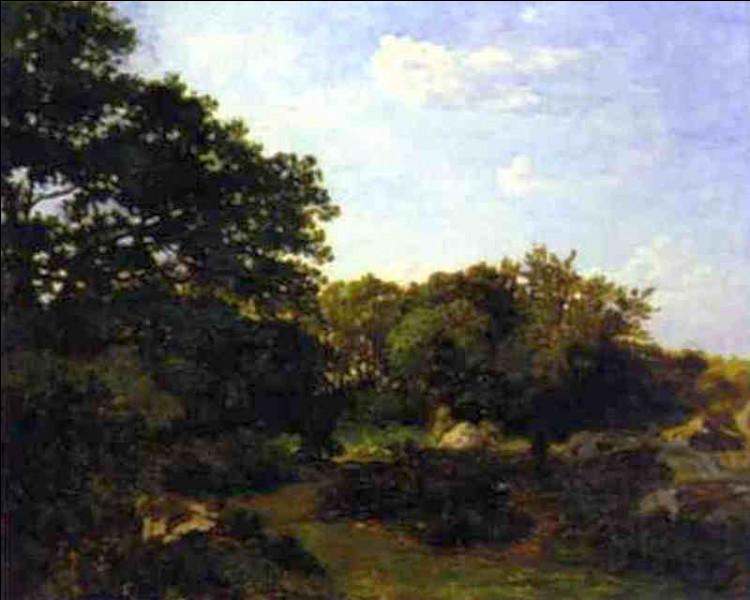 À qui doit-on cette toile représentant encore la forêt de Fontainebleau ?