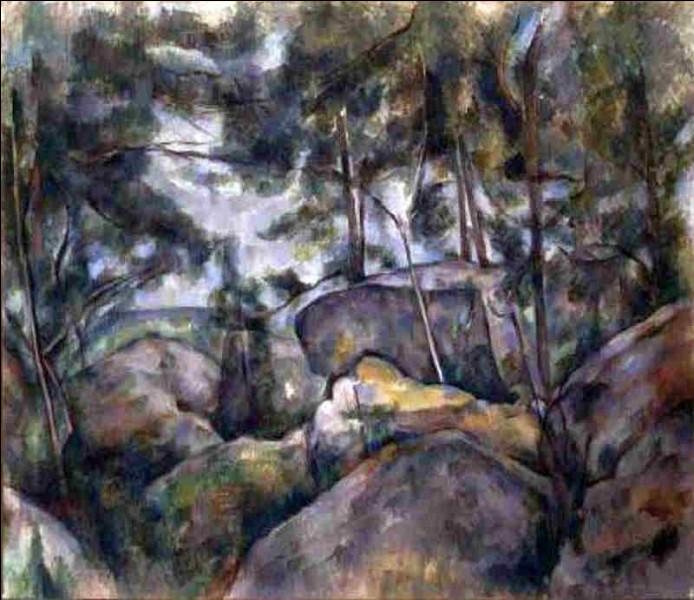 """Qui est le peintre des """"Rochers dans la forêt de Fontainebleau"""" ?"""